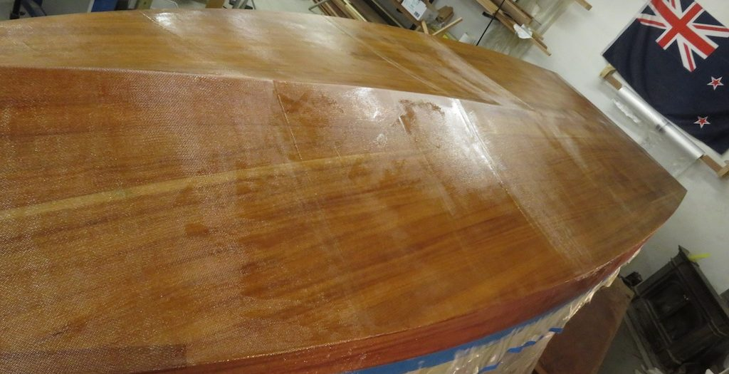 31. Epoxy, more epoxy, and even more epoxy with a bit of fibre-glass.